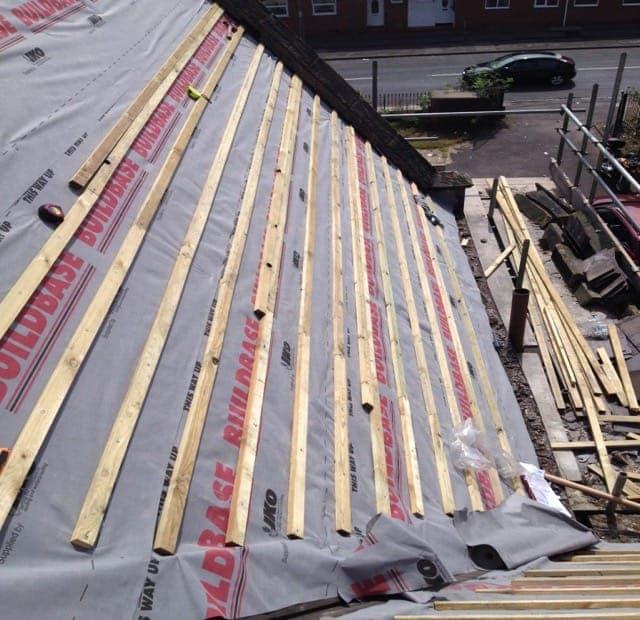 Felt, Latting and felting Roofs in S Dublin