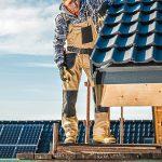 Tiled house roof repair